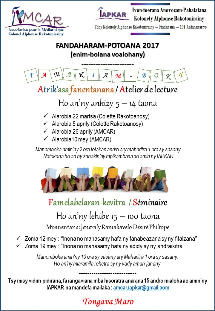 Affiche ateliers 2017