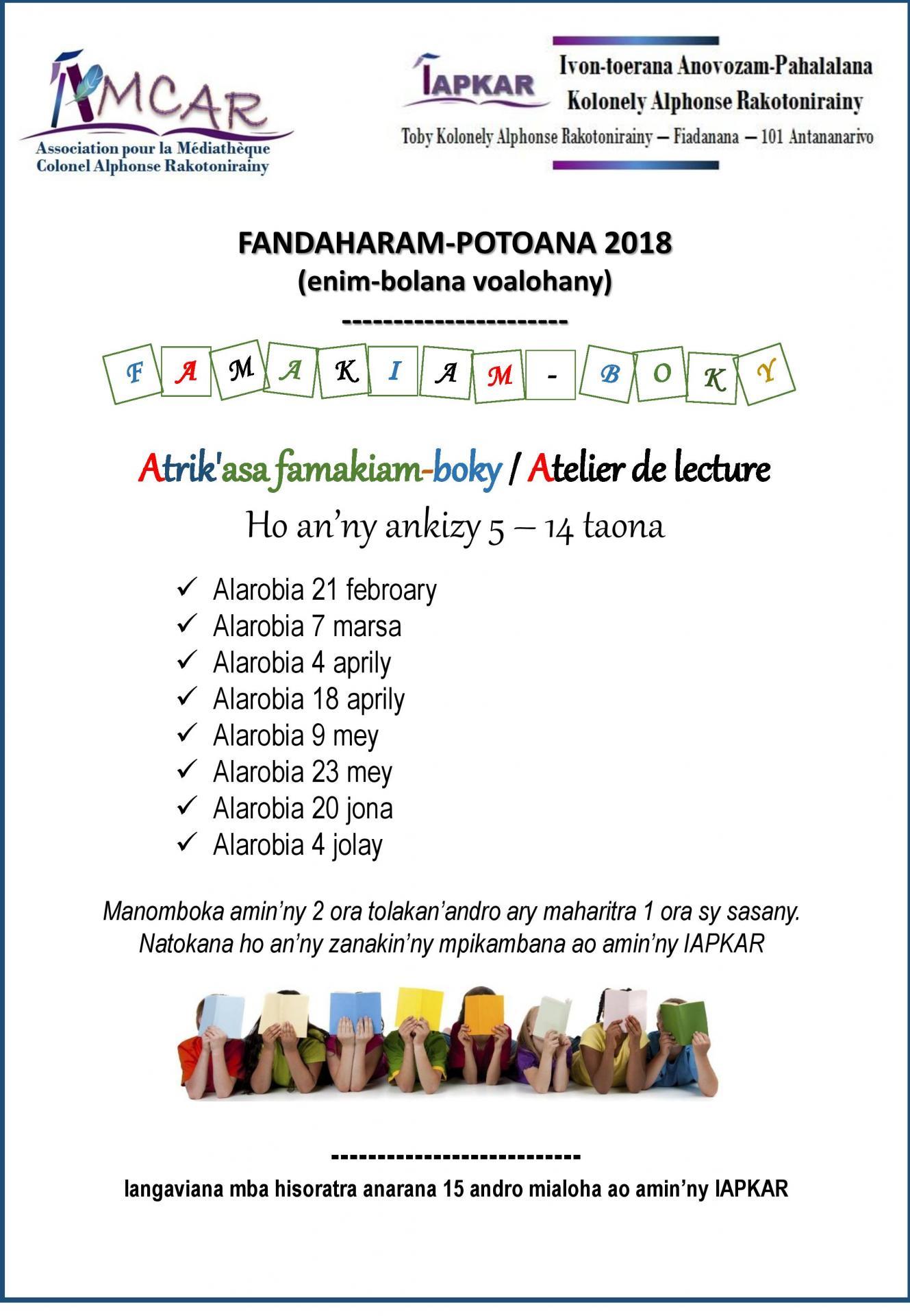 Affiche ateliers lecture 2018 1 amcar