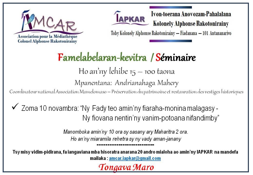 Affiche seminaire novembre 2017