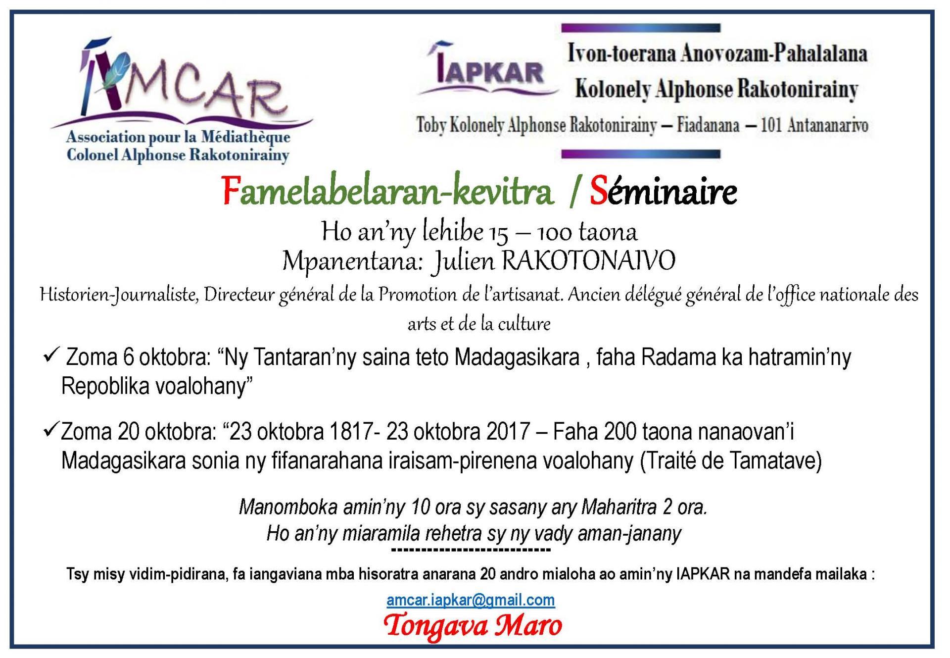Affiche seminaire octobre 2017