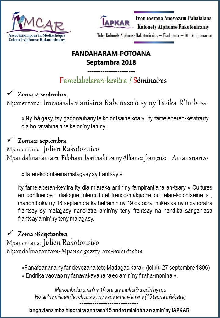 Affiche seminaires 2nd semestre 2018 1